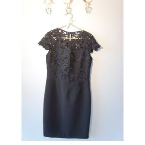 Elie Tahari Guipure Lace Black Dress